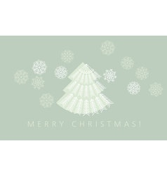 elegant pale green color christmas background xmas vector image