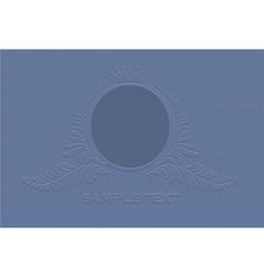 engraved vintage emblem vector image