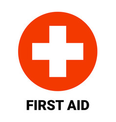 First aid icon symbol green cross safety vector