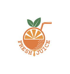 fresh juice emblem vector image