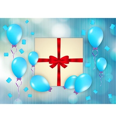 Gift and balloons vector
