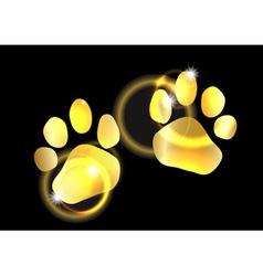 Golden animal feet vector