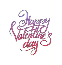 happy valentines day typographic lettering vector image