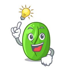 have an idea green coffee beans isolated on mascot vector image