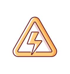 High voltage rgb color icon vector