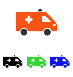 Hospital car flat icon vector