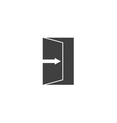 Icon exit image on white background vector