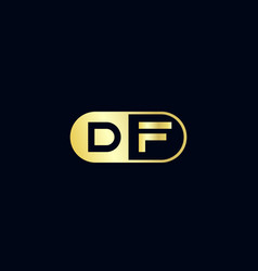 Initial letter df logo template design vector