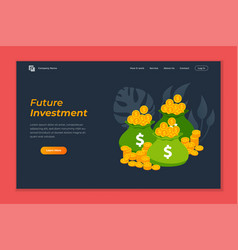 Investment web banner background template pile of vector