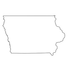 iowa ia state border usa map outline vector image