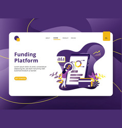 landing page funding platform modern style can be vector image