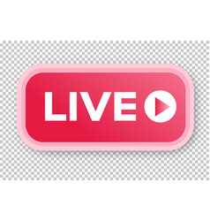 Live streaming icon 3d modern style vector