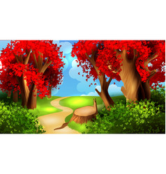 magic cartoon landscape vector image