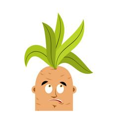 Mandrake root confused oops emoji surprise vector