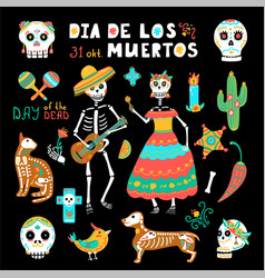 Mexico day dead vector