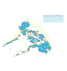 Modern of philippines map connections network vector