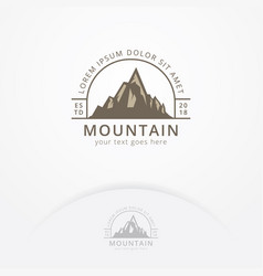 mountain and outdoor logo design vector image