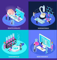 nano technology isometric design concept vector image
