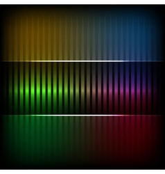 Neon abstract lines design on dark background vector image