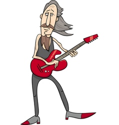 Old rock man cartoon vector