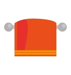 orange towel icon vector image