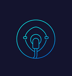 oxygen mask icon linear vector image