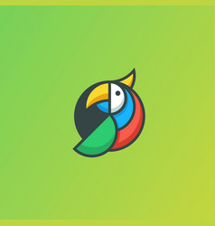 parrot geometric concept template vector image