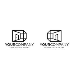 Perspective home logo design editable vector