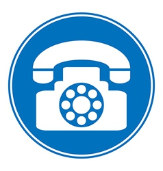 Phone allowing sign vector image