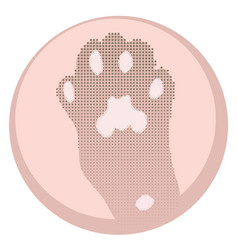 pink cats paw vector image