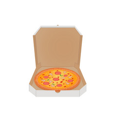 pizza in the box on white background image of vector image