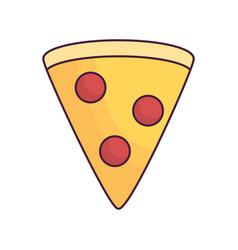 Pizza slice icon vector