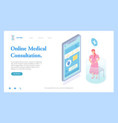 Pregnant woman ask medical help consulting vector