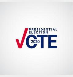 Presidential election vote 2020 template design vector
