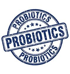 Probiotics blue grunge round vintage rubber stamp vector