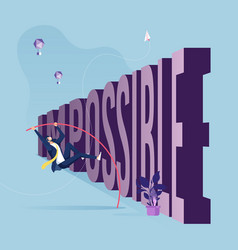 Problems and obstacles in business concept vector