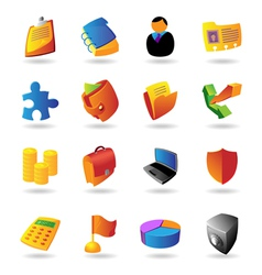 Realistic icons set for business vector