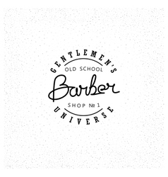 Retro emblem for Barber Shop vector image
