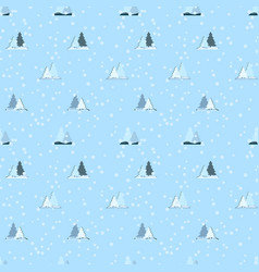 seamless repeating pattern of christmas trees and vector image