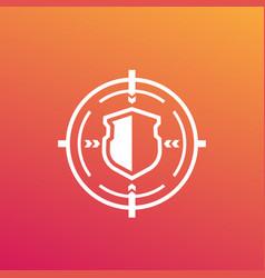 Security breach cyber attack icon vector