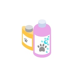 Shampoo and conditioner for animals icon vector image