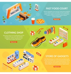 Shopping Mall Banners Set vector image