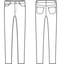 Skinny pants vector image