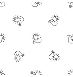 solar electric pattern seamless vector image