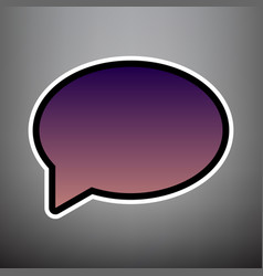 Speech bubble icon violet gradient icon vector