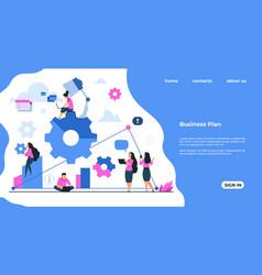 team building landing page business development vector image