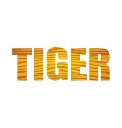 Tiger icon Animal text design graphic vector