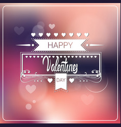 valentine day background bokeh heards poster vector image