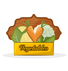 vegetables organic nutrition emblem image vector image