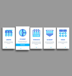 Water treatment items onboarding vector
